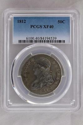 1812 Capped Bust Half Dollar 50C Pcgs Certified Xf 40 Extra Fine (539)