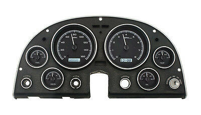 Dakota Digital 63-67 Chevy Corvette Analog Gauge Kit Black White VHX-63C-VET-K-W