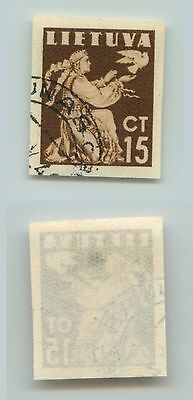 Lithuania, 1940, SC 319, used, imperf, different color. d5250