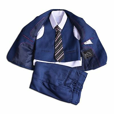 Cinda Royal Blue 5 Piece Boy Suits Wedding Suit Page Boy Party Prom 7-8 Years