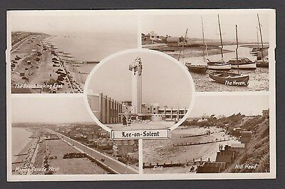 Postcard Lee on the Solent near Fareham Hampshire multiview with Hill Head RP