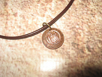 Antique Vintage Pendent & Leather Choker Seal of the City of New York NY NY