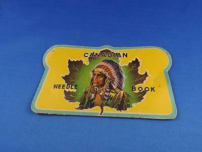 Vintage Sewing Canadian Needle Book Indian Maple Leaf Picture