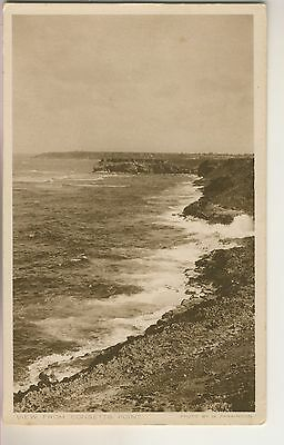 A Post Card of View from Consetts Point showing Ragged Point Lighthouse Barbados