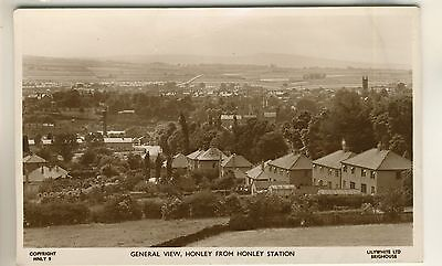 A Lilywhite Real Photo Post Card of General View, Honley From Honley Station.