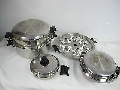 Amway Kitchen Queen Special Alloy Stainless Steel Waterless Cookware 6 Qt Egg +