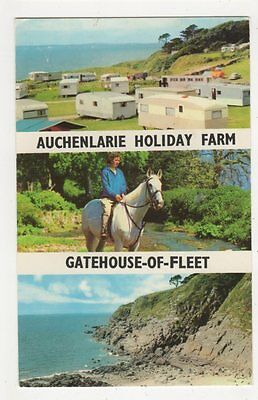 Auchenlarie Holiday Farm, Gatehouse of Fleet Postcard, B367
