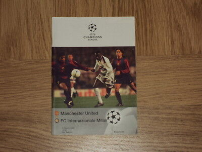 Manchester United v FC Inter Milan 3.3.99 Champions League Football Programme