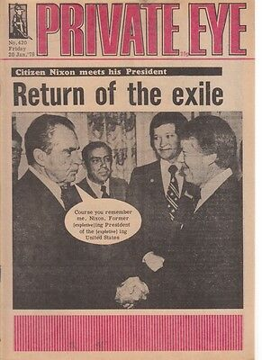 Private Eye Magazine 20 January 1978 #420 Return Of The Exile Nixon