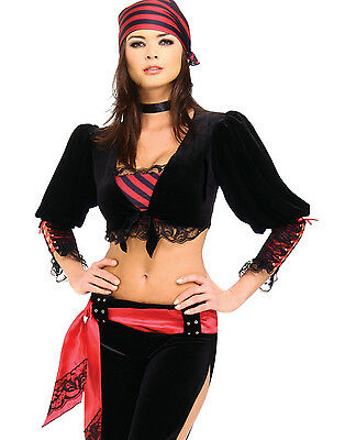 Captains Mate  Pirate Sailor Girl Halloween Fancy Dress Party Womens Costume M