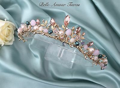 Gold bridal tiara,Bridal hair accessories,Brides headpiece,Wedding hairband,WOW!