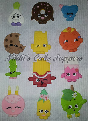 edible Shopkins x 12 girls birthday party cupcake cake toppers decorations