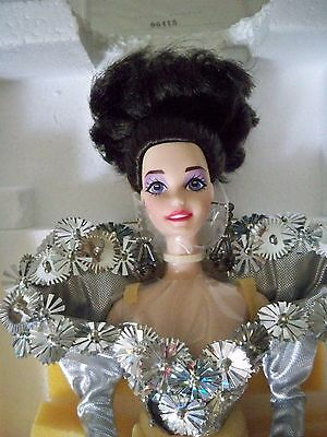 1993 Porcelain Barbie Doll 11305 Silver Starlight Limited Edition With COA
