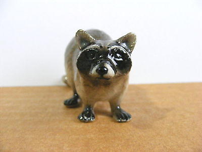 Northern Rose Raccoon Miniature Animal Figurine Support Wildlife Rehab
