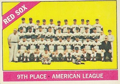 Topps 1966 #259 Boston Red Sox Team Card