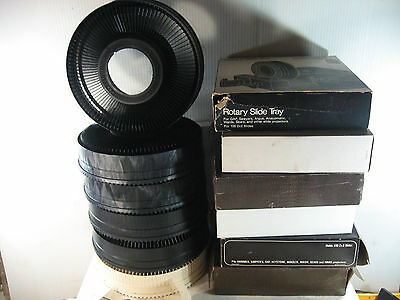 Lot Of 5 Rotary Slide Trays For Keystone Sawyers Gaf Anscomatic Projectors,