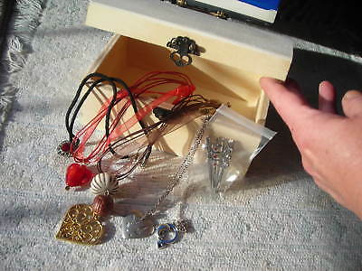 Closing Sale Natural Wood Treasure Chest-Pirate Jewelry Box Heart Shape Necklace
