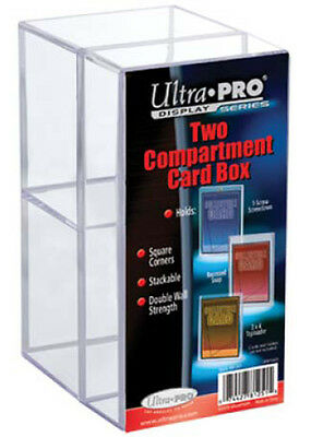 Ultra Pro  Storage Box Tray Two-Comartment Card Box New