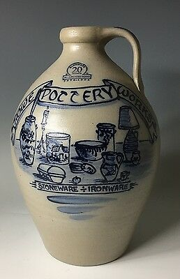 1995 ROWE POTTERY 20TH ANNIVERSARY Jug CROCK SIGNED BY JIM ROWE