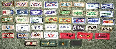 Lot of 43 Different Knot Award Patches Eagle Silver Beaver Sea Air Wood Badge