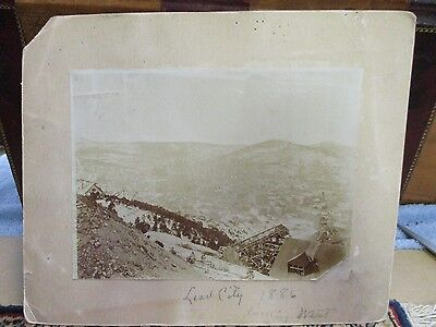 1886 Lead City South Dakota Cabinet Card Photograph 9 x 11