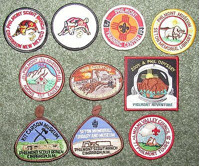 Lot of 10 Different Boy Scouts of America BSA Philmont Scout Ranch Patches #11