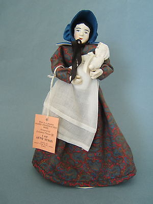 Vintage Handmade Artist Doll of Utah Mormon Pioneer Lady with Baby