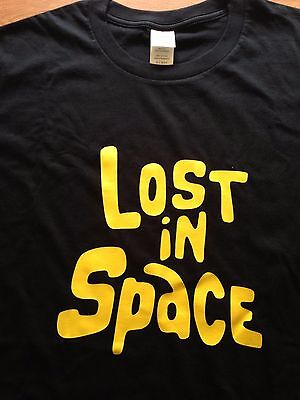 Brand new Lost in Space 1966 TV Show classic logo t-shirt Size 2XL  XXL