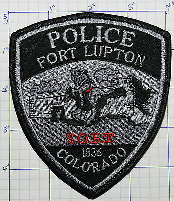 Colorado, Fort Lupton Police Subdued Sort Special Ops Patch