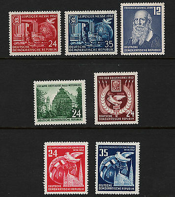 OPC 1952 Germany DDR Sets & Singles Lot of 7 All MNH