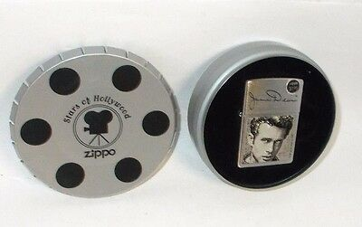 2002 James Dean Zippo Lighter with Tin Movie Reel Case