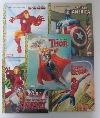 Marvel Little Golden Book Library Marvel Super Heroes X 5 books as new