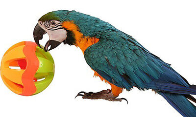 """2008 HUGE 5"""" PLASTIC BALL bird foot toy parrot macaw cage cages dog cat baby"""