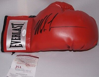 Mike Tyson Signed Autographed Red Boxing Glove Jsa Coa
