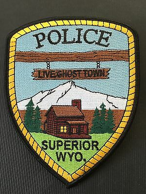 Superior Wyoming  Police  Shoulder  Patch