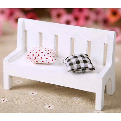 Hi-Q Mini Bench Dolls House Miniature Doll house furniture Seating with Cushions