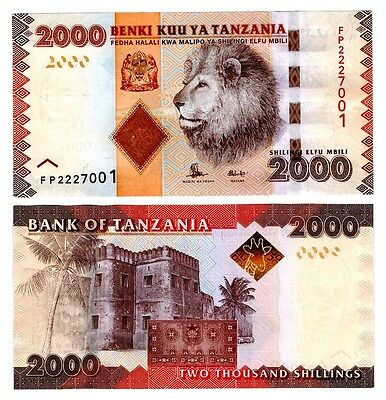 2015 Tanzania 2000 Shillings Uncirculated Note