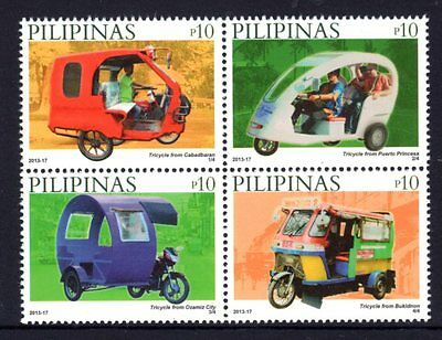 Philippines 2013 Tricycles Block 4 MNH