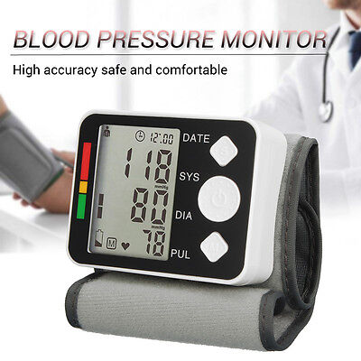 BP628 Wrist LCD Health Care Blood Pressure Monitor Meter Sphygmomanometer Cuff