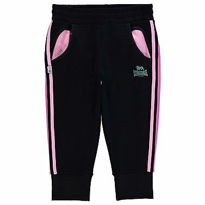 Lonsdale Kids Three Quarter Jogging Bottoms Sweat Pants Joggers Junior Girls