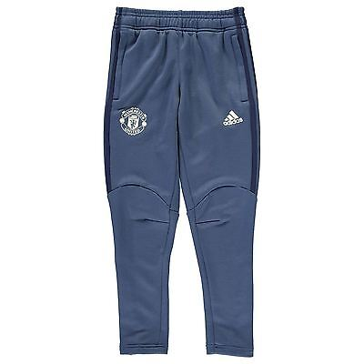 adidas Kids Manchester United Tracksuit Bottoms Sweat Pants Joggers Junior Boys