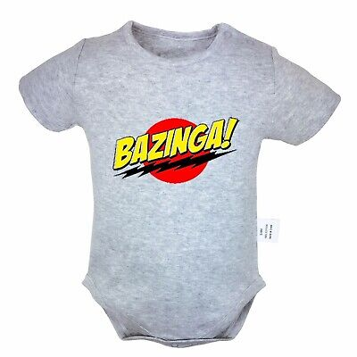 The Big Bang Theory Bazinga Red Baby Infant Romper Onesie