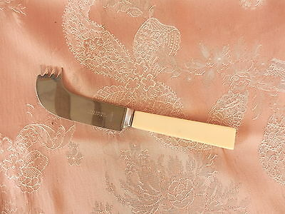 WARRISS  Sheffield   CHEESE KNIFE   Square Handle   FAUX BONE      VINTAGE