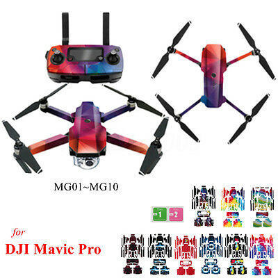 PVC Waterproof Stickers Decal Skin Wrap Cover Protector For DJI Mavic Pro Quad