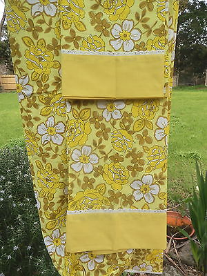 DAN RIVER  DANTREL  Fitted  Sheet &  2  P/CASES   DOUBLE   RETRO VINTAGE FABRIC