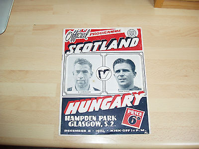 Scotland v Hungary 1954 International at Hampden Park