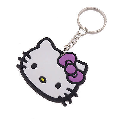 Bowknot Hello Kitty Keyring Phone Charm Bag soft silica gel collection gift