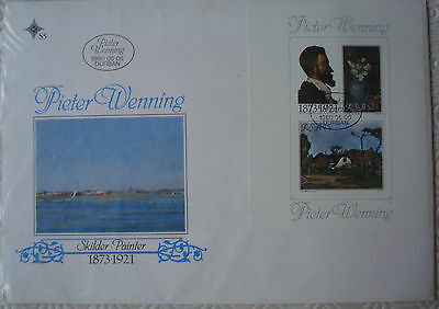 South Africa 1st Day Cover with 2 stamps on mini sheet - Pieter Wenning (1980)