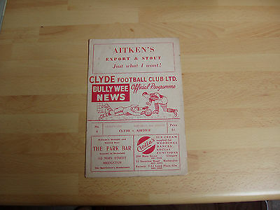 Clyde v Airdrie Lge Cup 1958/9