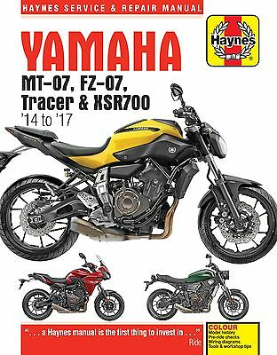 PRE-ORDER TITLE: Haynes Manual 6385 - Yamaha MT-07, Tracer & XSR700 (14 - 17)